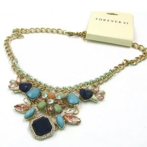 FOREVER 21~ Gemstone  Necklace